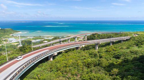沖縄南部の絶景ドライブルート ニライカナイ橋 Nirai-kanai Bridge, Beautiful Sea View in Okinawa