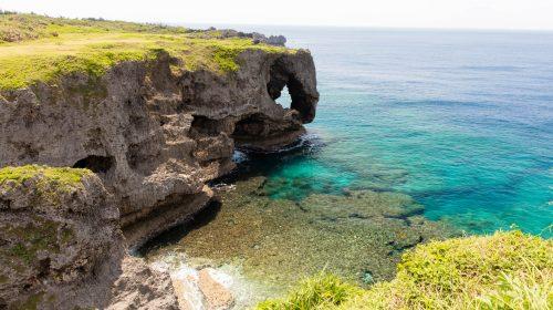 沖縄のおすすめ絶景スポット 万座毛 Okinawa Must Visit Scenery Spot Manzamo
