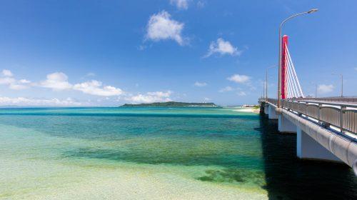 沖縄でおすすめのドライブルート 海中道路 Mid-sea (Kaichu) Road, Recommended Drive Route