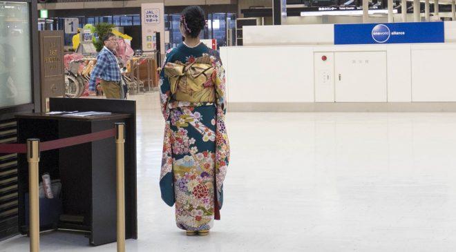 お正月の成田空港は正月飾りと着物姿が必見 New Year at Narita Airport