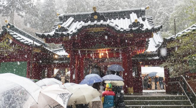 2017年の初詣は雪の中の箱根神社 2017 New Year Visit to Snowing Hakone Shrine