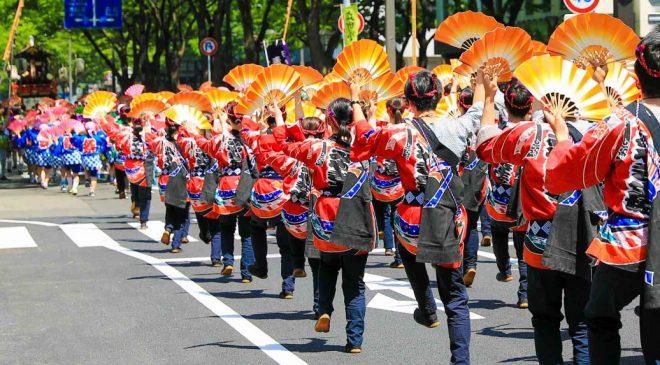 青葉まつりのすずめ踊りと祭囃子は5月に東北・仙台を訪れる際には必ず見たいイベント!  Sendai Aoba Festival Suzume Odori