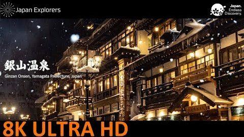 動画で国内旅行 山形県 銀山温泉 Ginzan Onsen, Yamagata